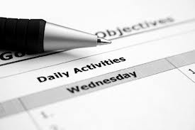 Weds daily activity